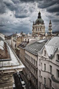 Kilátás egy épület tetejéről. 2017.